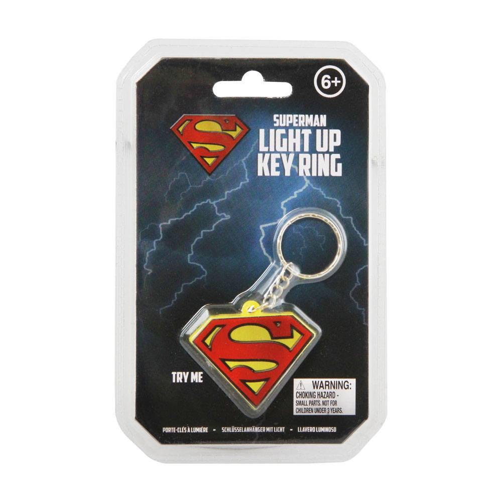 DC Comics Light-Up Keychain Superman Logo