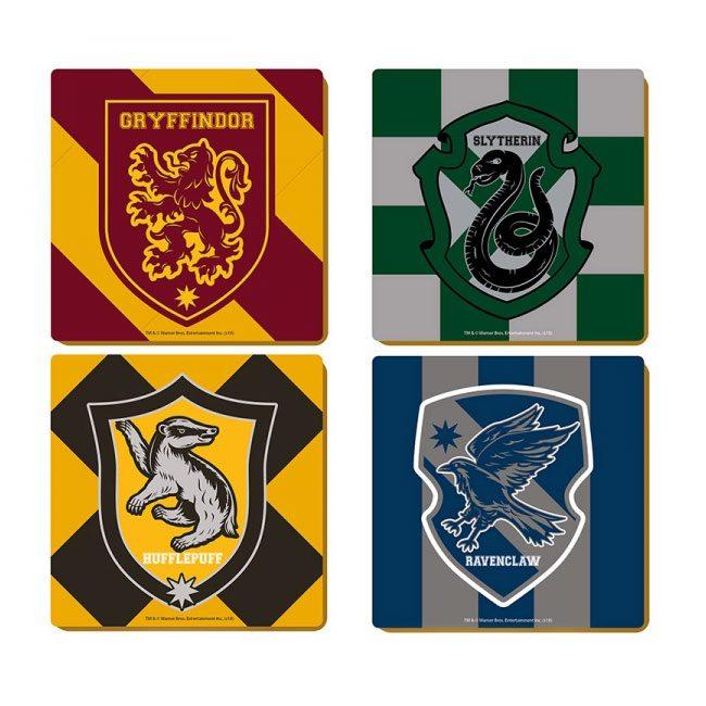 Harry Potter Coaster 4-Pack Varsity Crests