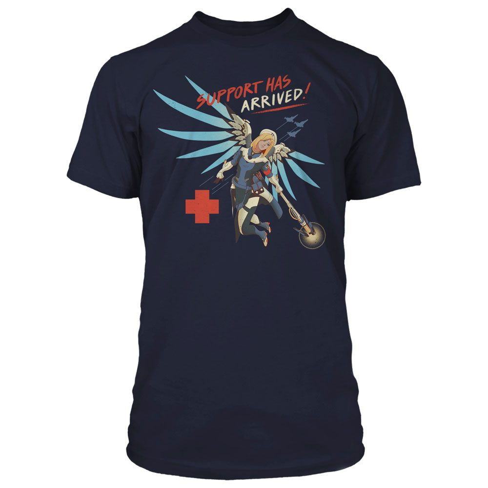 Overwatch T-Shirt Support Has Arrived Size S