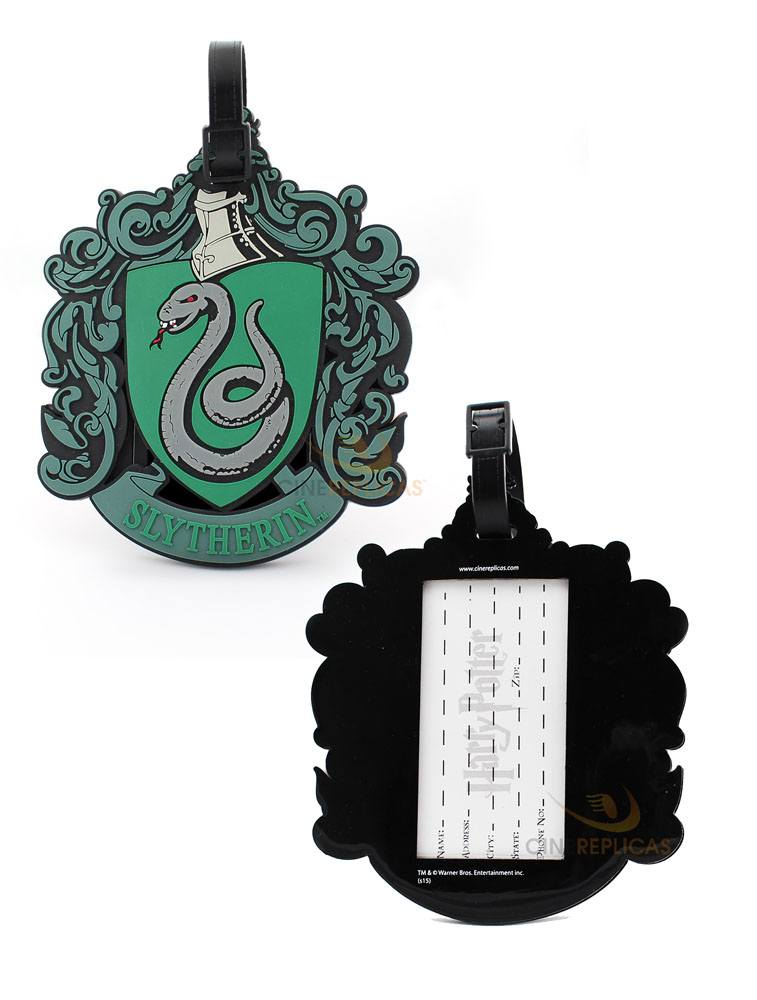 Harry Potter Rubber Luggage Tag Slytherin