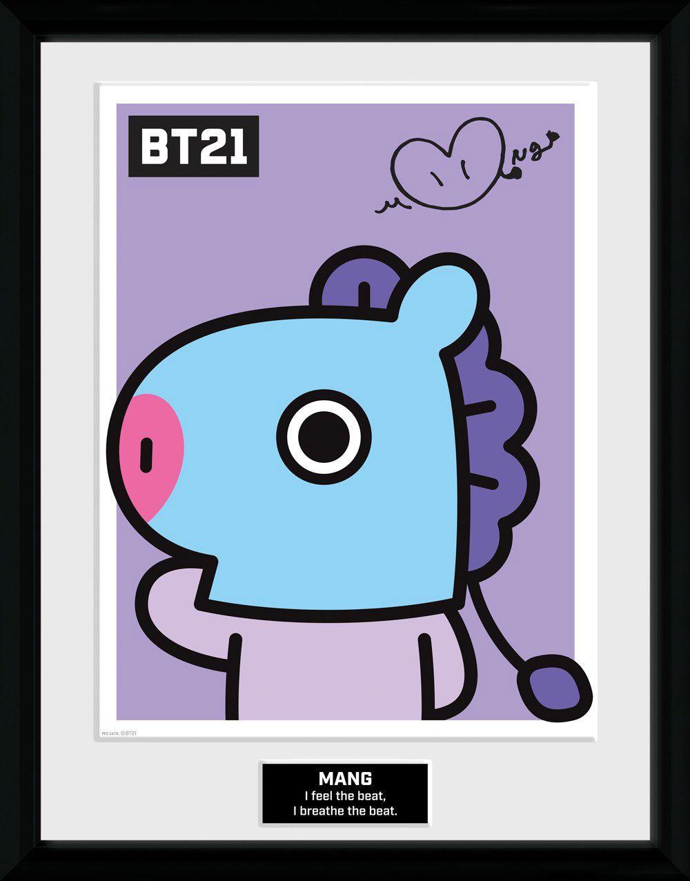 BT21 Framed Poster Mang