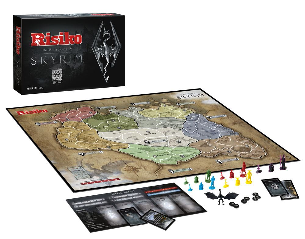 The Elder Scrolls V Skyrim Board Game Risk Dovahkiin Edition *German Version*