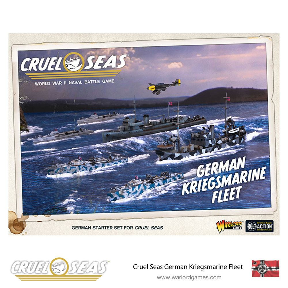 Cruel Seas Miniatures Game Expansion Set German Kriegsmarine Fleet *English Version*