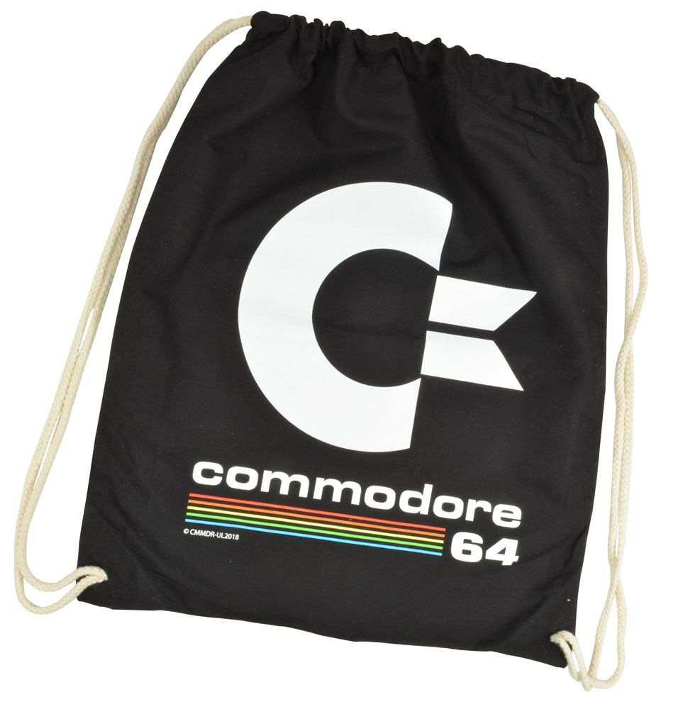 Commodore 64 Gym Bag Black Logo