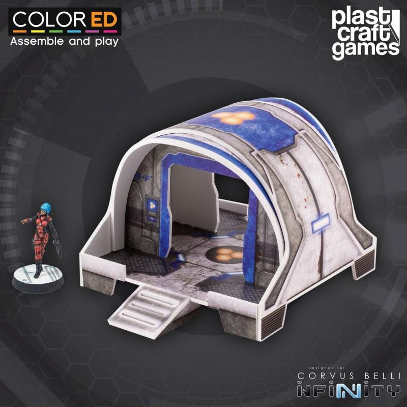 Infinity ColorED Miniature Gaming Model Kit 28 mm Curved Modular Building