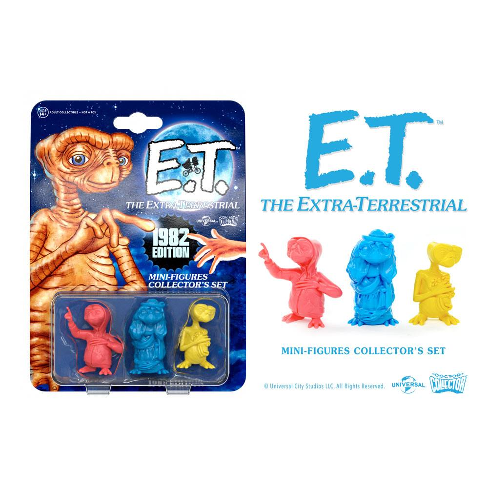 E.T. the Extra-Terrestrial Collector's Set Mini Figures 3-Pack 1982 Edition 5 cm