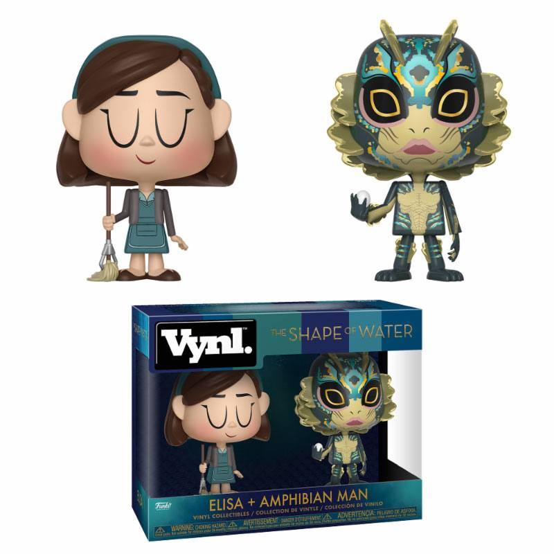 The Shape of Water VYNL Vinyl Figures 2-Pack Elisa & Amphibian Man 10 cm