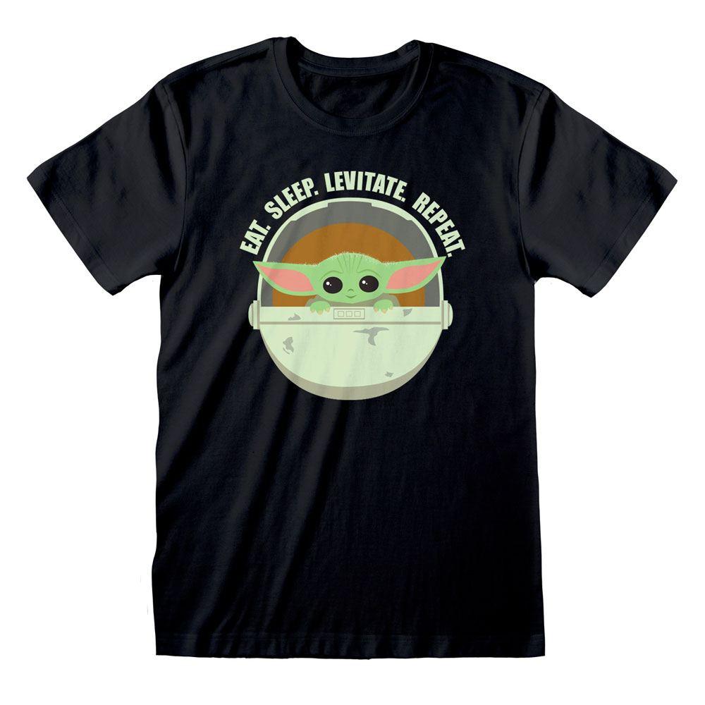 Star Wars The Mandalorian T-Shirt Eat Sleep Levitate Size L