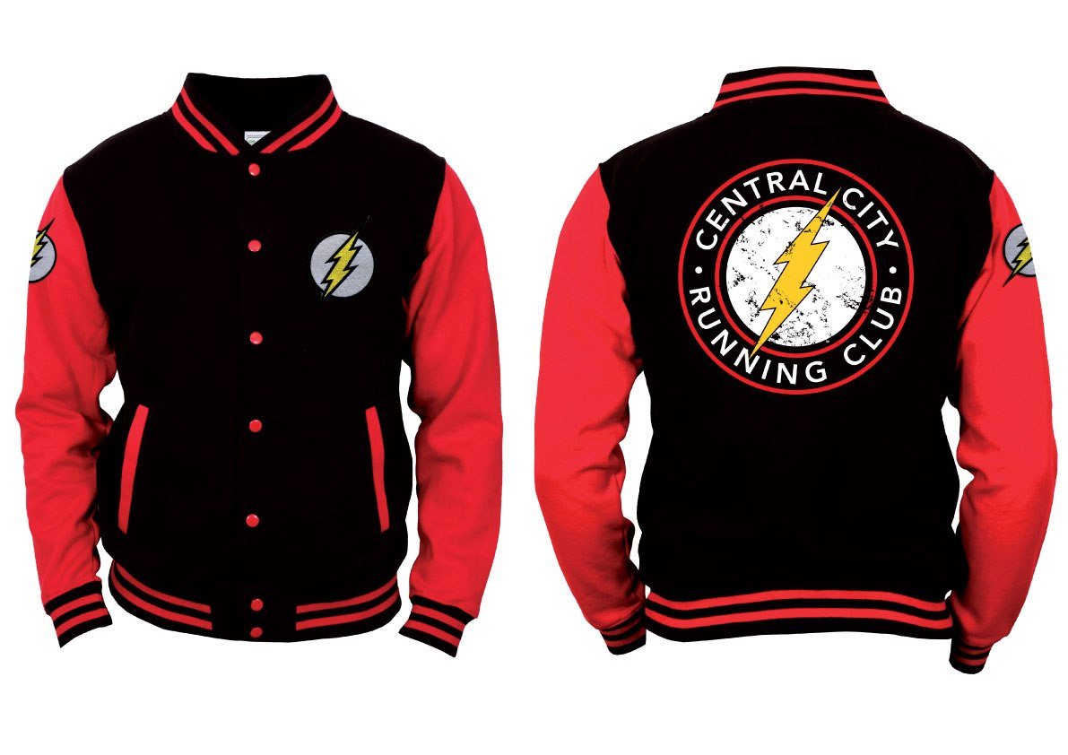 The Flash Baseball Varsity Jacket Central City Size M