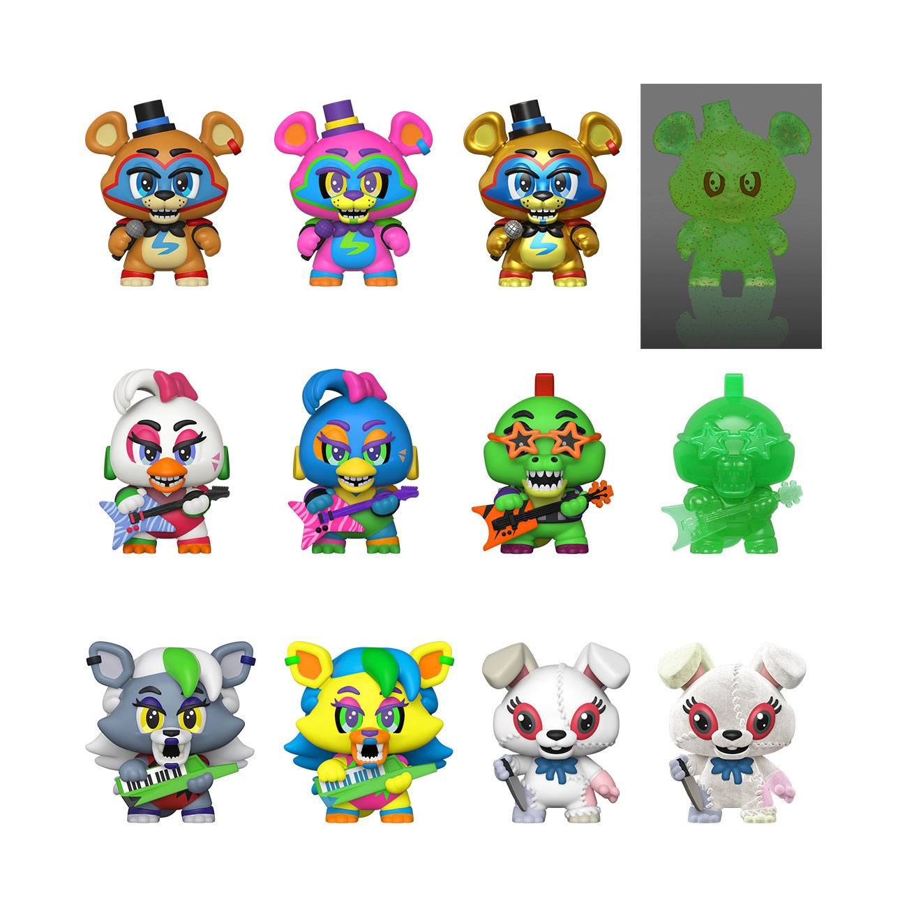 Five Nights at Freddy's Mystery Minis Vinyl Mini Figures 6 cm Display Security Breach (12)