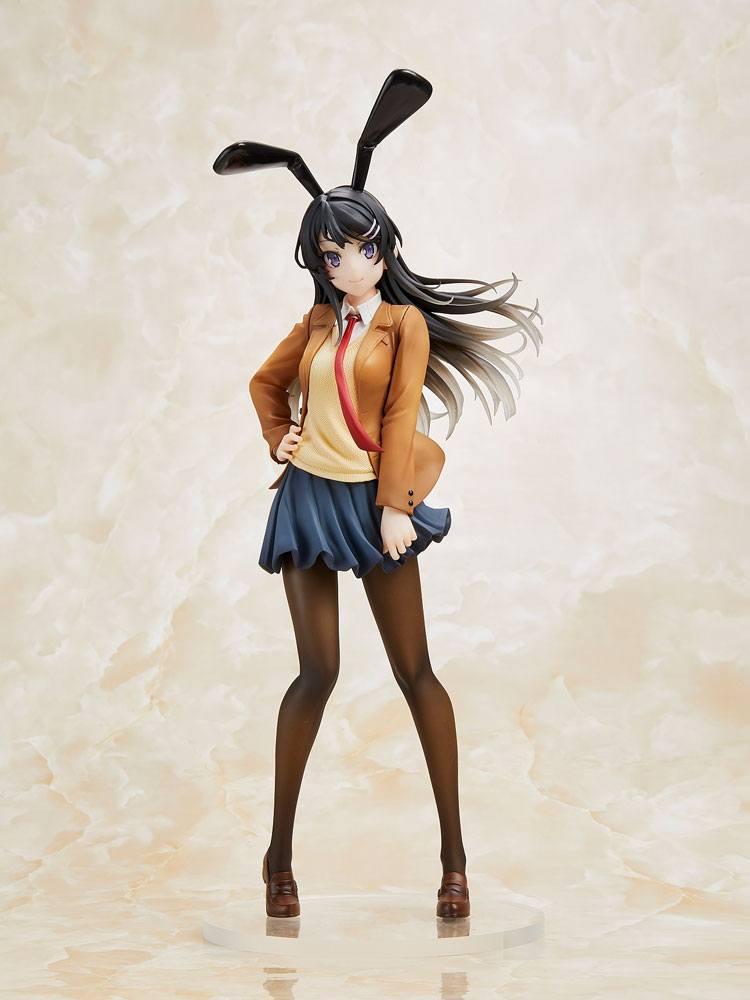Rascal Does Not Dream of Bunny Girl Senpai Statue Mai Sakurajima Mai Uniform Bunny Ver. 23 cm