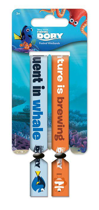 Finding Dory Festival Wristband 2-Pack Fluent In Whale