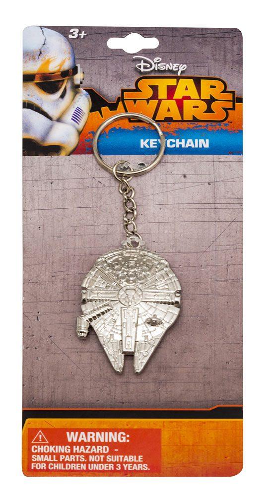 Star Wars Episode VII Metal Keychain Millenium Falcon
