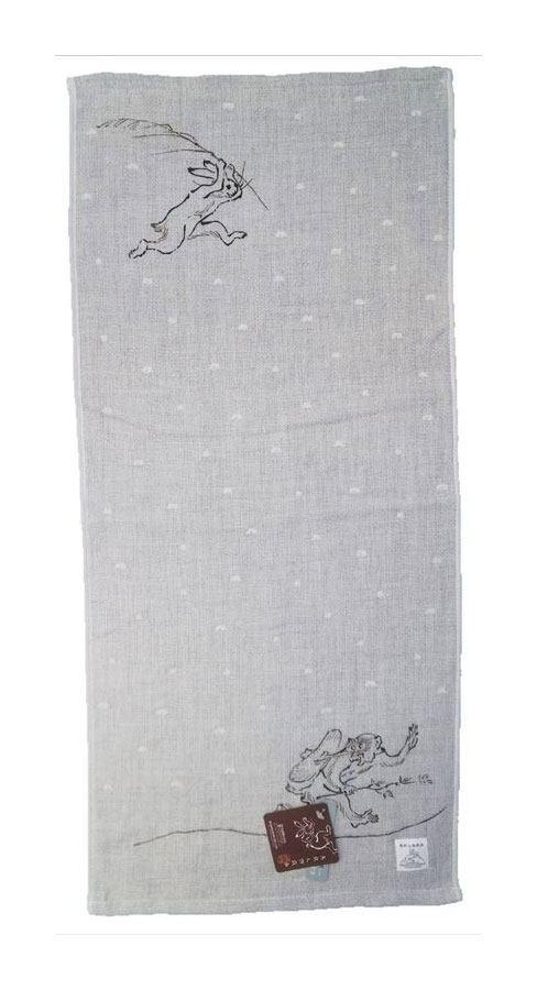 Ukiyo-e Towel Chojujinbutsugiga Giga 34 x 80 cm