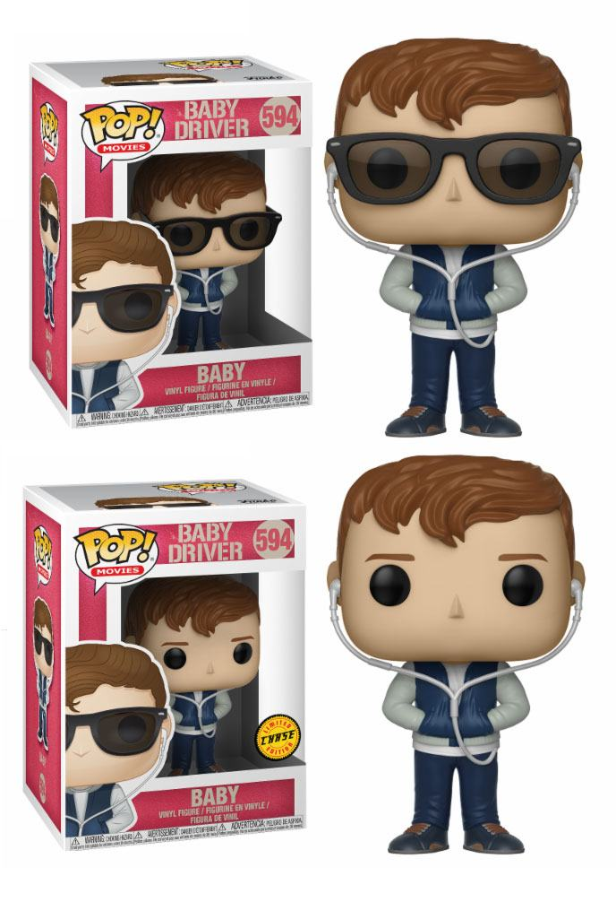 Baby Driver POP! Movies Vinyl Figures Baby 9 cm Assortment (6)