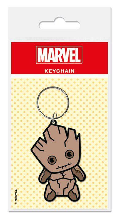 Marvel Comics Rubber Keychain Kawaii Groot 6 cm