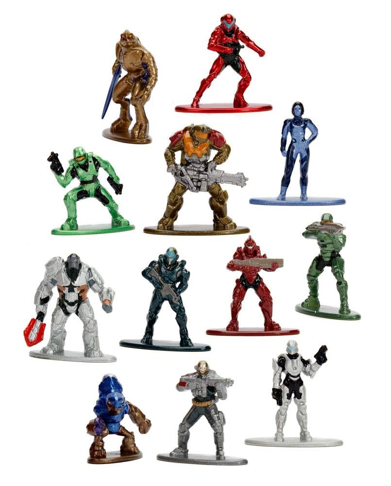 Halo Nano Metalfigs Diecast Mini Figures 4 cm Assortment (24)