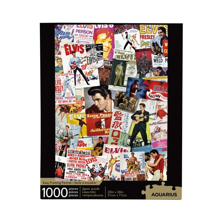 Elvis Presley Jigsaw Puzzle Movie Poster Collage (1000 pieces)
