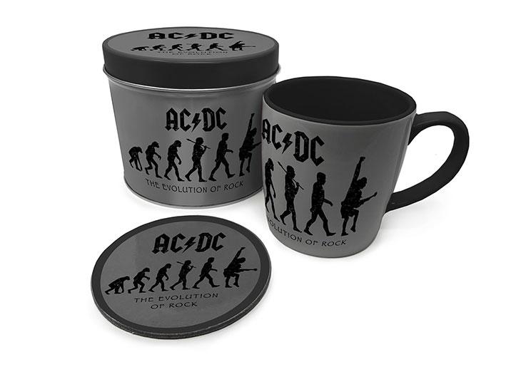 AC/DC Mug with Coaster The Evolution of Rock