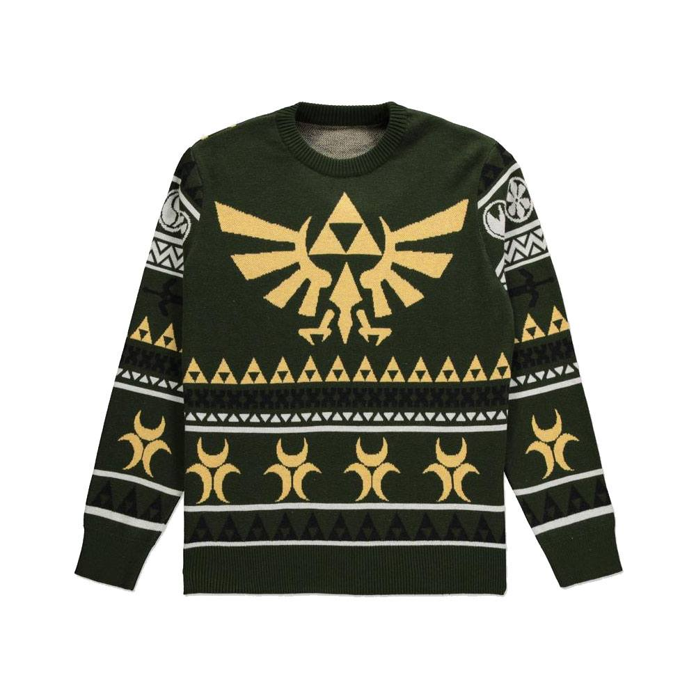 The Legend of Zelda Knitted Christmas Sweater Triforce Size XL