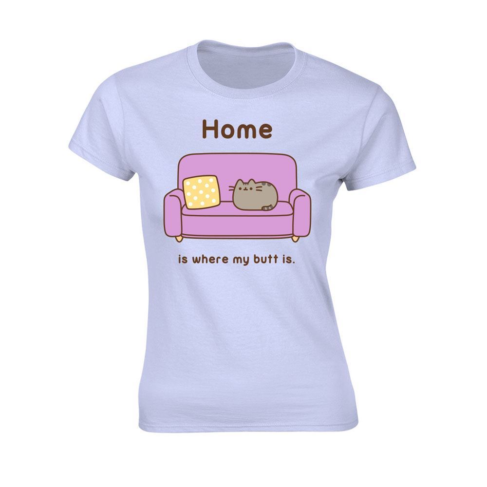 Pusheen Ladies T-Shirt Home is where my Butt is Size S