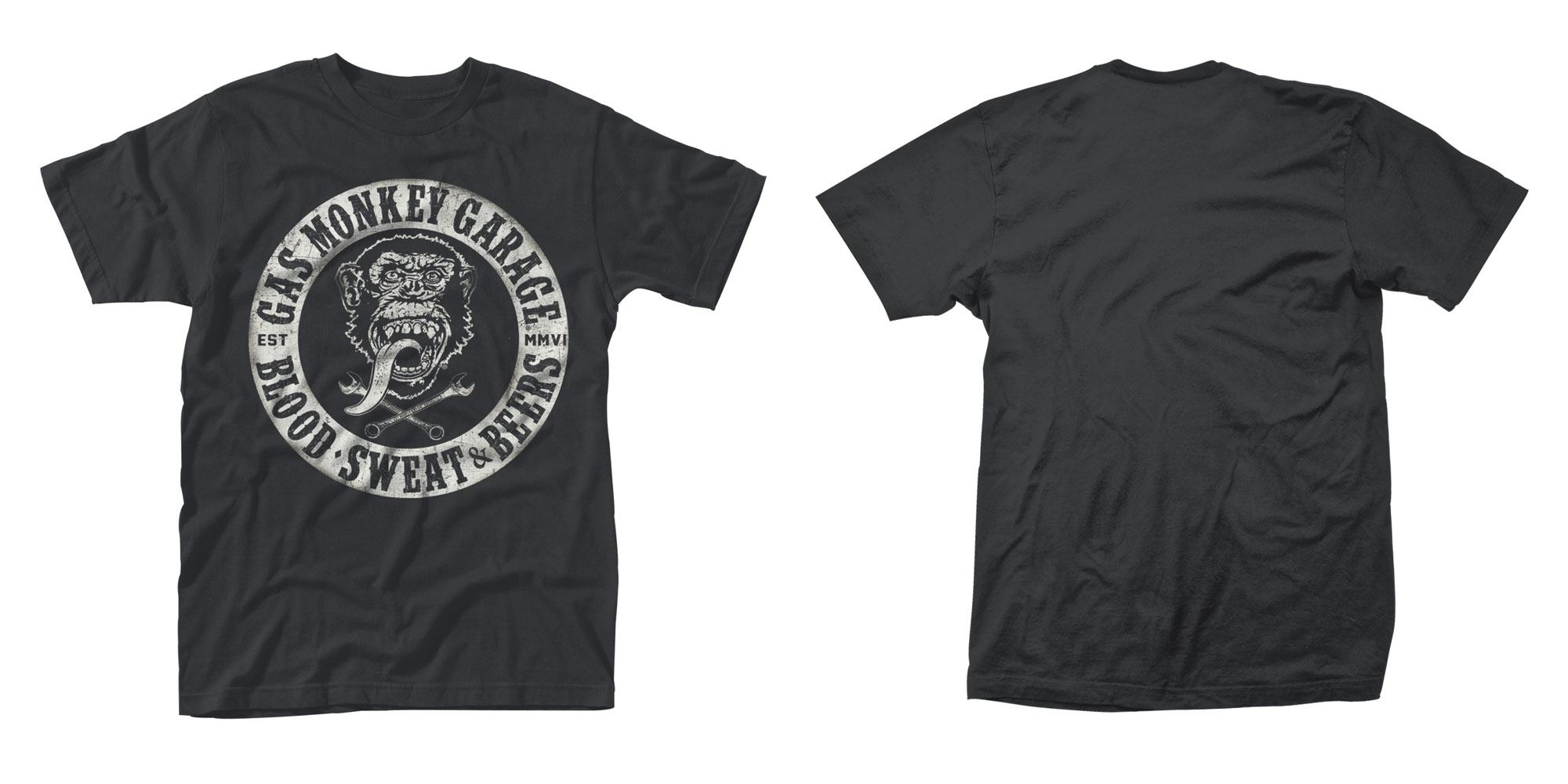 Gas Monkey Garage T-Shirt Blood, Sweat & Tears Size M