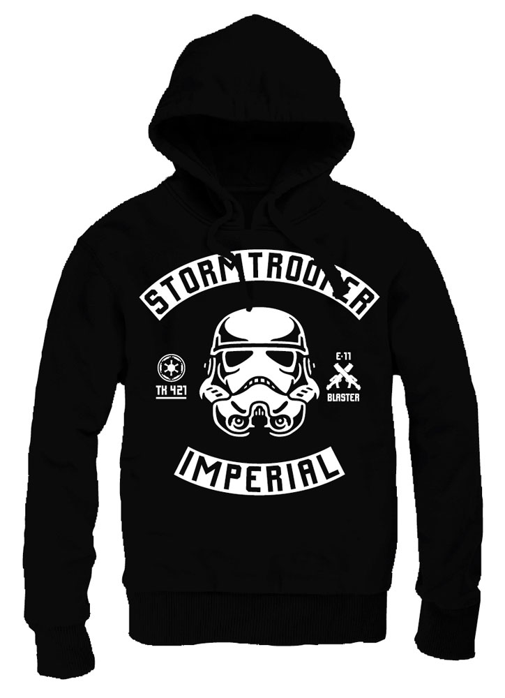 Star Wars Hooded Sweater Stormtrooper Biker Style Size S