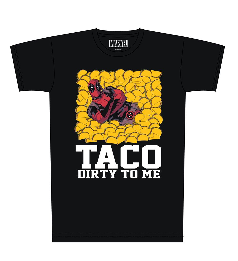 Deadpool T-Shirt Taco Dirty To Me Size M