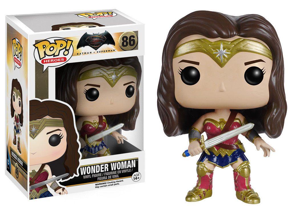 Batman v Superman POP! Heroes Vinyl Figure Wonder Woman 9 cm