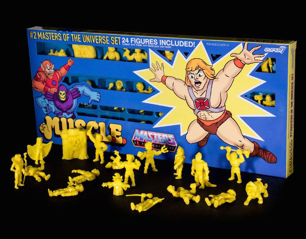 Masters of the Universe MUSCLE Figures 24-Pack yellow 4 cm