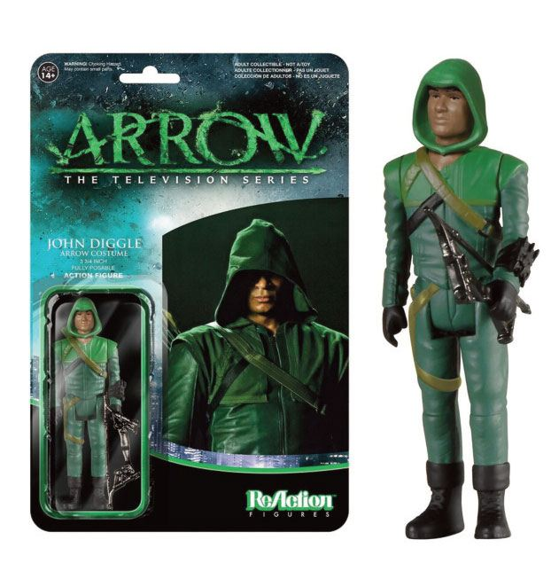 Arrow ReAction Action Figure John Diggle (Arrow Costume) 8 cm