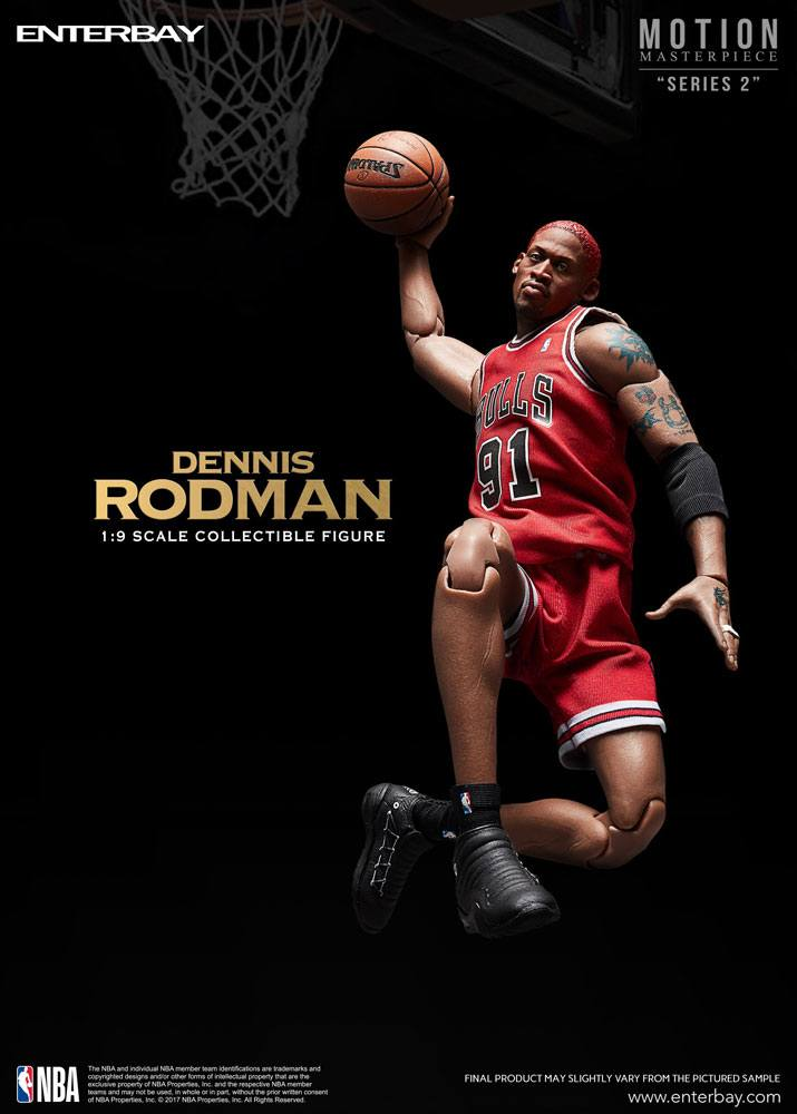 NBA Collection Motion Masterpiece Actionfigur 1/9 Dennis Rodman 23 cm --- DAMAGED PACKAGING