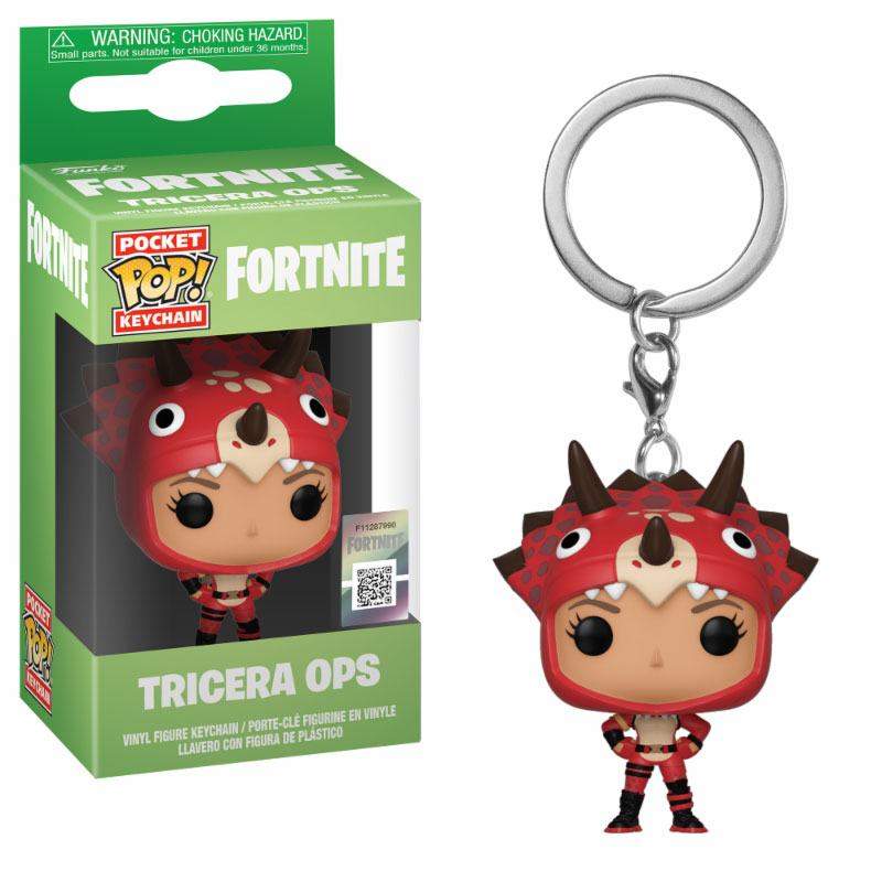 Fortnite Pocket POP! Vinyl Keychain Tricera Ops 4 cm