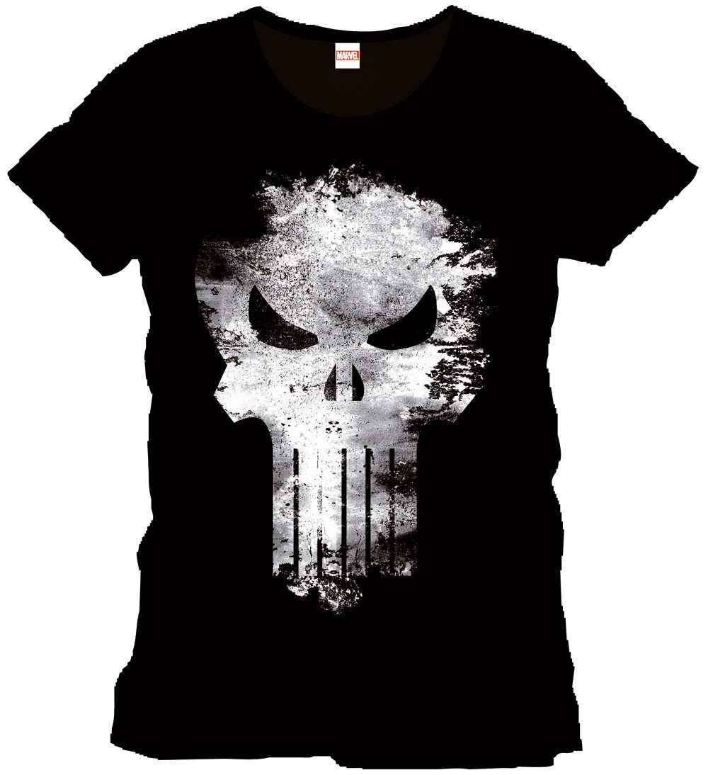 Punisher T-Shirt Distress Skull Size XL