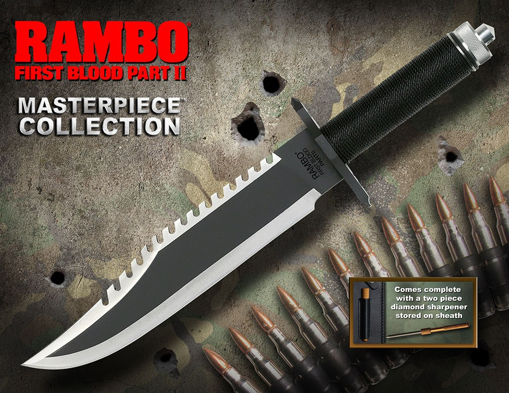 Rambo First Blood Part II Replica 1/1 Knife Masterpiece Collection Standard Edition 40 cm