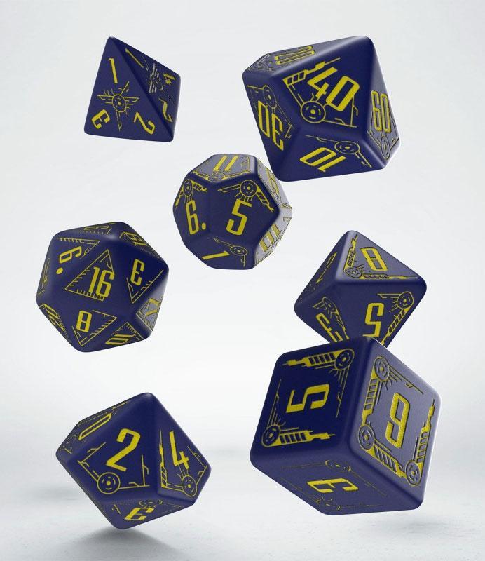 Galactic Dice Set navy & yellow (7)