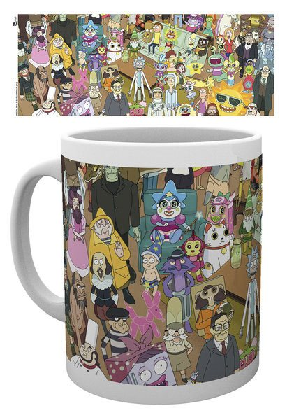 Rick and Morty Mug Characters