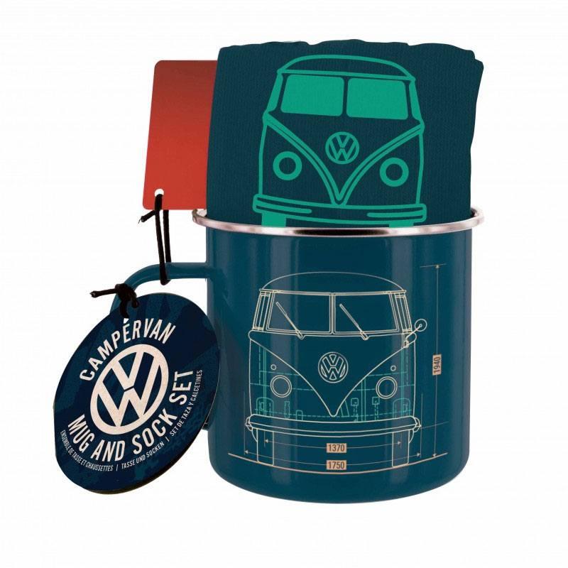 Volkswagen Mug & Socks Set Campervan