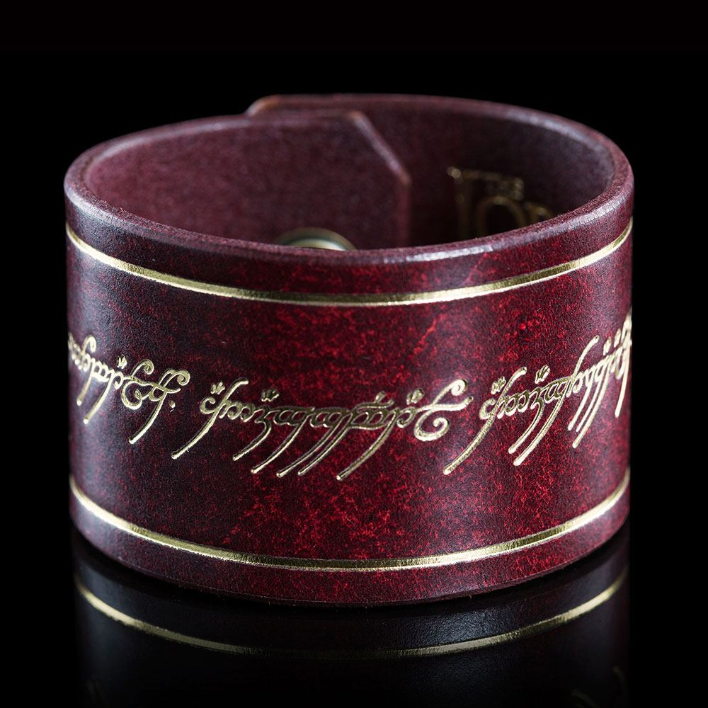 Lord of the Rings Leather Cuff The One Ring Inscription
