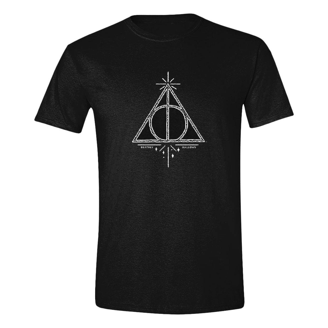 Harry Potter T-Shirt Deathly Hallows Symbol Size M
