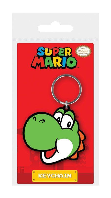 Super Mario Rubber Keychain Yoshi 6 cm