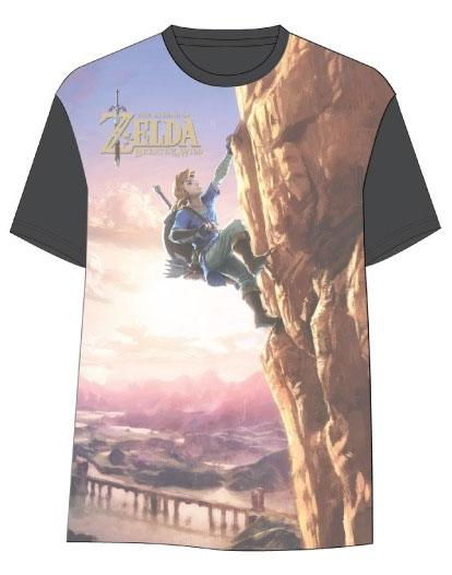 The Legend of Zelda Breath of the Wild Sublimation T-Shirt Link Climbing Size XL
