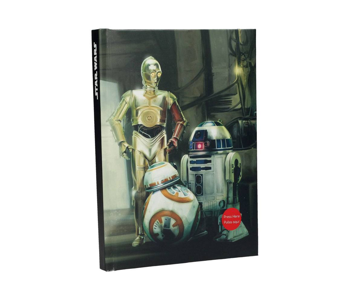 Star Wars Episode VII Notebook with Sound & Light Up Droids
