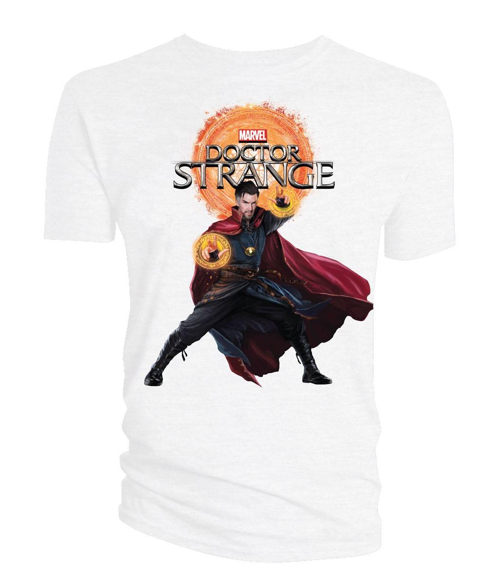 Doctor Strange T-Shirt Doctor Strange & Logo white Size L