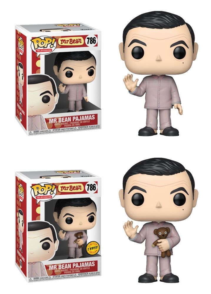 Mr. Bean POP! TV Vinyl Figures Mr. Bean Pajama w/ Teddy Bear 9 cm Assortment (6)