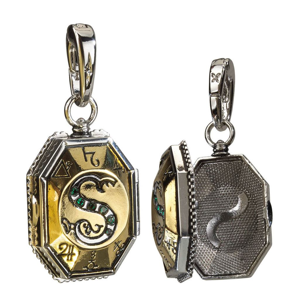 Harry Potter Bracelet Charm Lumos Slytherin's Locket