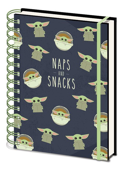 Star Wars The Mandalorian Wiro Notebook A5 Snacks And Naps Case (10)