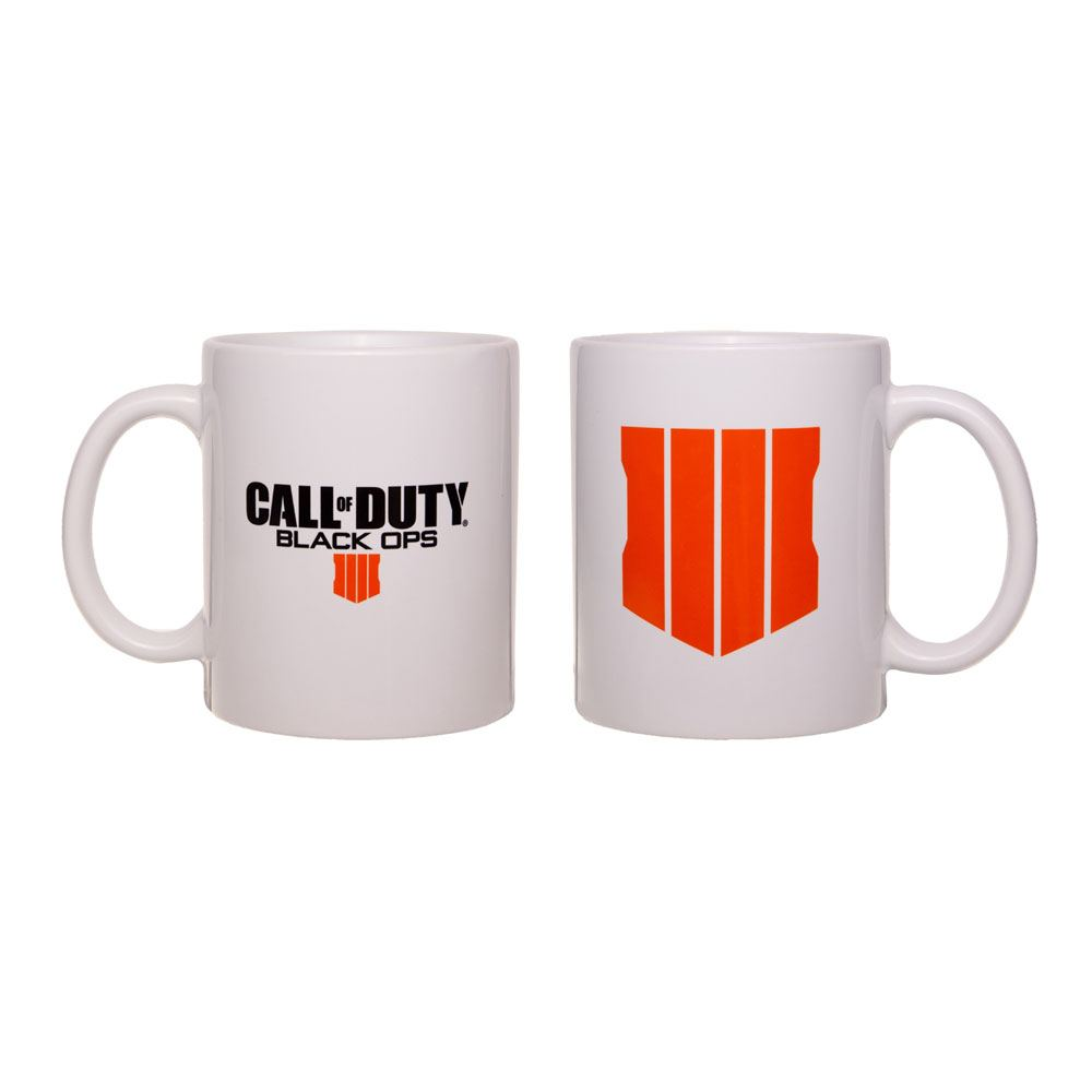 Call of Duty Black Ops 4 Mug Logo White
