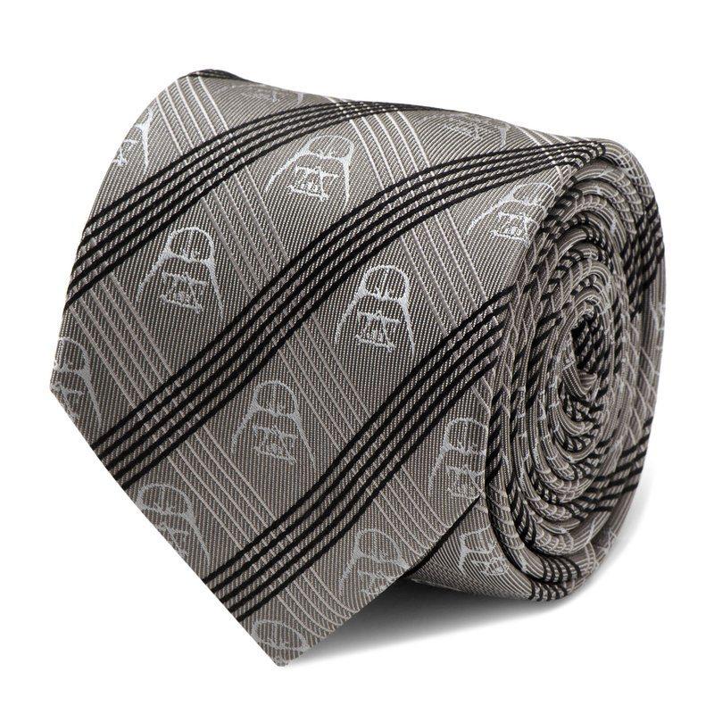 Star Wars Tie Darth Vader Chequered Grey