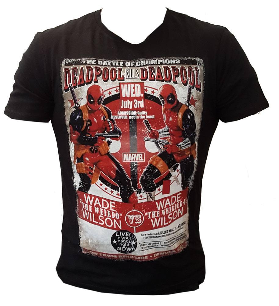 Deadpool T-Shirt Deadpool Kills Deadpool Size XXL